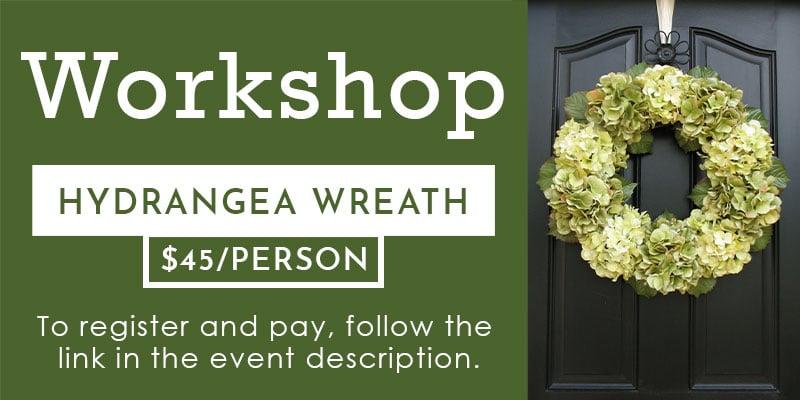Hydrangea wreath workshop header